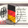GERMANY - CIRCA 1989: A stamp printed in Germany, dedicated to 4 - Stock Photo