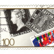 GERMANY - CIRCA 1990: A stamp printed in Germany honoring 150 ye - Stockfoto