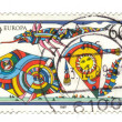 GERMANY - CIRCA 1989: A stamp printed in Germany shows Kites. ce — Stock Photo