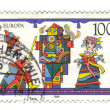 GERMANY - CIRCA 1989: A stamp printed in Germany shows Puppet an — Stock Photo