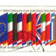 GERMANY- CIRCA 1989: stamp printed by Germany, shows flags of th - Stockfoto