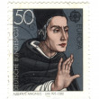 GERMANY - CIRCA 1980: A stamp printed by Germany shows portrait - Stockfoto