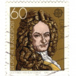 GERMANY - CIRCA 1980: stamp printed in Germany, shows portrait G — Stock Photo