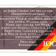 CIRCA 1990: a stamp printed in the Germany shows 40th Anniversar - Stock Photo