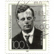 GERMANY - CIRCA 1989: stamp printed in Germany, shows portrait R — Stock Photo