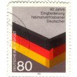 Stock Photo: GERMANY- CIRC1985: stamp printed by Germany, shows 40th. anniv