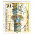 GERMANY- CIRCA 1985: stamp printed by Germany, shows Dominic Zim — Stock Photo