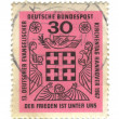 GERMANY - CIRCA 1967: a stamp printed in the Germany shows Peace — Stock Photo