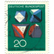 GERMANY - CIRCA 1969: stamp printed by Germany, shows Rocks and — Stock Photo