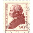 GERMANY- CIRCA 1974: A stamp printed by Germany, shows portrait — Stock Photo
