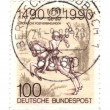 Royalty-Free Stock Photo: GERMANY - CIRCA 1990: A stamp printed in Germany-West Berlin, is
