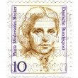 Royalty-Free Stock Photo: GERMANY - CIRCA 1988: stamp printed by Germany, shows portrait o