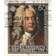 GERMANY - CIRCA 1985: stamp printed in Germany, shows portrait G - Stock Photo