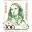 GERMANY - CIRCA 1989: stamp printed by Germany, shows portrait o — Stock Photo