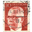 GERMANY - CIRCA 1971: A stamp printed in Germany shows a portrai - Stock Photo
