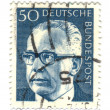 GERMANY - CIRCA 1971: A stamp printed in Germany showing a portr - Stock Photo