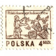 POLAND - CIRCA 1963: A stamp printed in Poland shows beekeeper, - Stock Photo