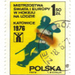 POLAND - CIRCA 1976: A stamp printed in POLAND shows European an — Stock Photo