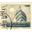 Stock Photo: POLAND - CIRC1966: stamp printed in Poland showing ship, cir