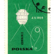 POLAND - CIRCA 1963: stamp printed by Poland, shows spacecraft, — Stock Photo