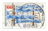 GERMANY - CIRCA 1980: A stamp printed in Germany shows Mast (sai — Stock Photo
