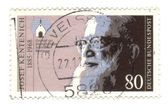 CIRCA 1985: stamp printed by Germany, shows portrait Father Jose — Stock Photo
