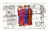 GERMANY - CIRCA 1989: a stamp printed in the Germany shows Saint — Stock Photo