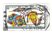 GERMANY - CIRCA 1989: A stamp printed in Germany shows Kites. ce — Foto Stock