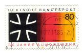 GERMANY - CIRCA 1985: stamp printed in Germany, shows 30 yrs fed — Stock Photo