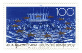 GERMANY - CIRCA 1989: stamp printed in Germany, shows Council of — Stock Photo
