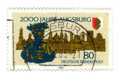 GERMANY - CIRCA 1985: stamp printed in Germany, shows old city, — Stock Photo