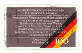 CIRCA 1990: a stamp printed in the Germany shows 40th Anniversar — Stock Photo