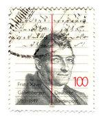 德国-大约 1989 年: 一张邮票印在德国,专用 — 图库照片