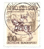 GERMANY - CIRCA 1990: A stamp printed in Germany-West Berlin, is — Stock Photo