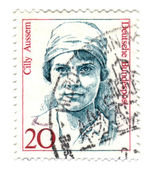 FEDERAL REPUBLIC OF GERMANY - CIRCA 1988: A stamp printed in Ger — Stock Photo