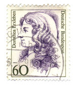 FEDERAL REPUBLIC OF GERMANY - CIRCA 1987: A stamp printed in Ger — Stock Photo