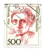FEDERAL REPUBLIC OF GERMANY - CIRCA 1989: A stamp printed in Ger — Stock Photo