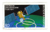 GERMANY-CIRCA 1980 A stamp printed in Germany shows european sat — Стоковое фото