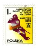POLAND - CIRCA 1976: A stamp printed in POLAND shows European an — Foto de Stock