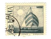 POLAND - CIRCA 1966: a stamp printed in Poland showing ship, cir — Stock Photo
