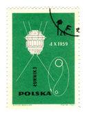 POLAND - CIRCA 1963: stamp printed by Poland, shows spacecraft, — Stock Photo