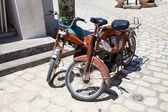 Two old fashioned moped in Djerba - Tunisia — Stock Photo