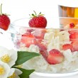 Stock Photo: Sweet milk cottage cheese with strawberries