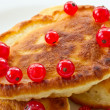 Stock Photo: Pancakes with red currants