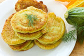 Squash fritters — Stock Photo