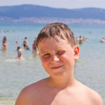 Boy at sea — Stock Photo