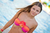 Girl at the pool — Stock Photo