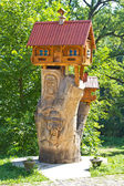 Small wooden house — Stock Photo