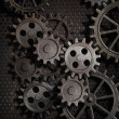 Rusty gears metal background — Stock Photo #10750203