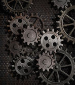 Rusty gears metal background — Stock Photo